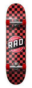 RAD BOARD CO CHECKERS COMPLETE SKATEBOARD BLACK | RED 7.75