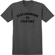 REAL VS EVERYONE TEE CHARCOAL HEATHER BLACK