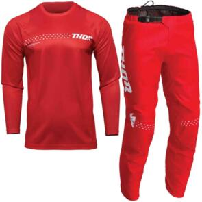 THOR MX S22 SECTOR YOUTH MINIMAL RED FULL GEAR SET