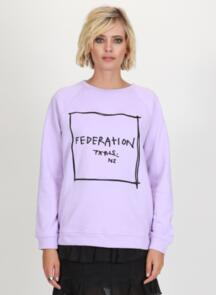 FEDERATION WOMENS RELAX CREW - NOT PARIS LILAC