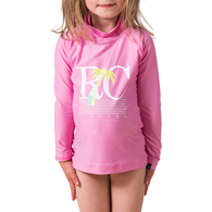 RIP CURL WETSUITS 2017 MINI FOREVER SEARCH L/S UV TEE PINK