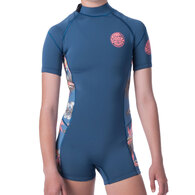 RIP CURL WETSUITS 2019 JNR.GIRL D/PATROL 1.5MM S/SL SPRING BLUE