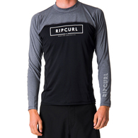 RIP CURL WETSUITS 2019 UNDERLINE RELAXED LS UVT BLACK