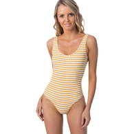 RIP CURL WETSUITS 2019 WOMENS ISLAND STRIPE GOOD 1 PC MUSTARD