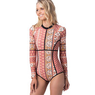 RIP CURL WETSUITS 2019 WOMENS SAFFRON SKIES UV S/SUIT RUST