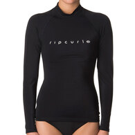 RIP CURL WETSUITS 2019 WOMENS SUNNY RAYS RELAXED L/SL BLACK