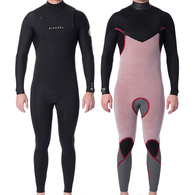 RIP CURL WETSUITS 2020 DAWN PATROL C/ZIP 4/3GB STEAMER BLACK