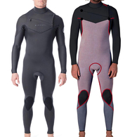 RIP CURL WETSUITS 2020 DAWN PATROL C/ZIP 43GB STEAMER CHARCOAL GREY