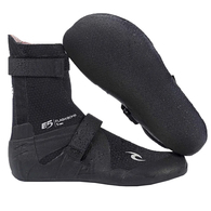 RIP CURL WETSUITS 2020 FLASHBOMB 5MM HID.S/TOE BOOTIES BLACK