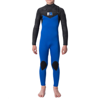 RIP CURL WETSUITS 2020 JNR D/PATROL 43GB C/ZIP STEAMER BLACK BLUE