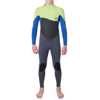 RIP CURL WETSUITS 2020 JNR OMEGA 43GB STEAMER LIME