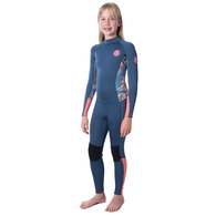 RIP CURL WETSUITS 2020 JNR.GIRL D/PAT 43GB B/ZIP STEAMER CORAL