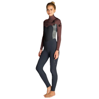 RIP CURL WETSUITS 2020 WOMENS FLASHBOMB 4/3MM CHEST ZIP STEAMER RUST