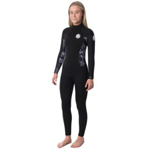 RIP CURL WETSUITS 2020 WOMENS DAWN PATROL 32GB B/Z STEAMER BLACK GREY