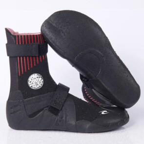 RIP CURL WETSUITS 2021 FLASHBOMB 3MM NARROW H S/TOE BOOTIES BLACK