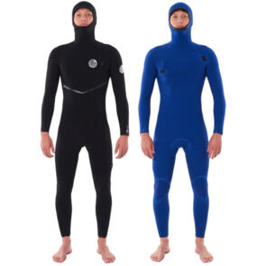 RIP CURL WETSUITS 2021 E BOMB 43 Z/FREE HOODED STEAMER BLACK