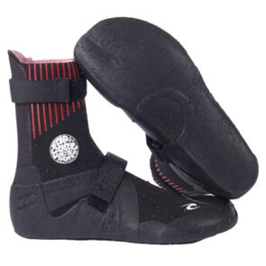 RIP CURL WETSUITS 2021 FLASHBOMB 5MM HID.S/TOE BOOTIES BLACK
