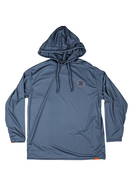RONIX 2020 UV SHADE/QUICK DRY HOODIE (GREY/ORANGE)