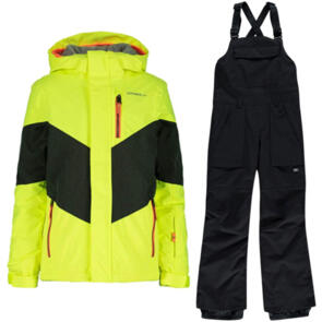 ONEILL SNOW YOUTH CORAL JACKET + BOYS BIB BLACKOUT COMBO