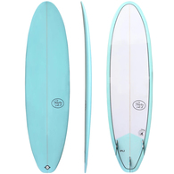 "ROCKY POINT MINI MAL FUNSTER 6'8"" TEAL WHITE"