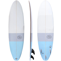 "ROCKY POINT MINI MAL FUNSTER 8'0"" BLUE STRIPES"
