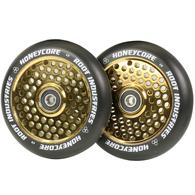 ROOT 110MM HONEYCORE WHEELS - BLACK / GOLD RUSH 2 PACK