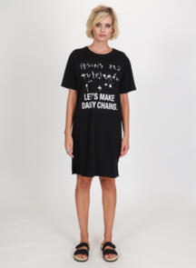 FEDERATION RUSH DRESS - DAISY CHAINS BLACK