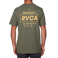 RVCA BOXED IN SS TEE DUSTY OLIVE