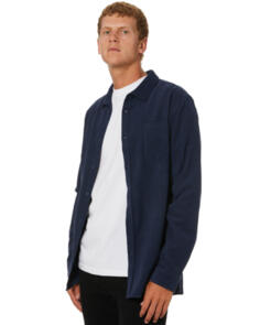 SWELL LINE UP CORD LS MENS SHIRT NAVY