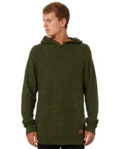SWELL CHIMERA MENS HOODED KNIT OLIVE