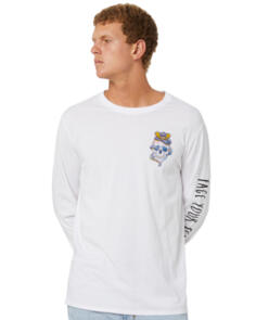 SWELL FACE YOUR FEAR LS TEE WHITE