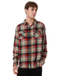 SWELL MYRIAD MENS LS FLANNEL SHIRT TAUPE