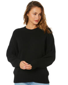 SWELL WOMENS SANDSTORM RELAXED PULLOVER KNIT BLACK