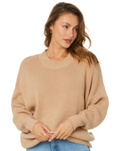 SWELL WOMENS SANDSTORM RELAXED PULLOVER KNIT CARAMEL