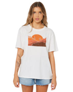 SWELL WOMENS BE KIND TEE WASHED WHITE