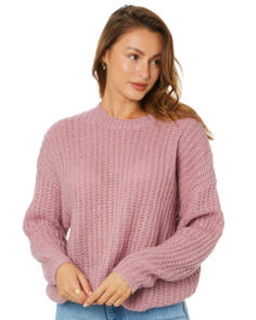 SWELL WOMENS SOLACE KNIT SWEATER MAUVE
