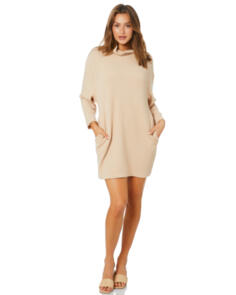 SWELL WOMENS MARIBELLE KNIT DRESS SAND