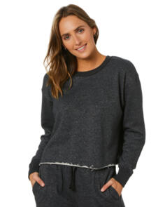 SWELL WOMENS INFUSION CROPPED FLEECE BLACK MARLE