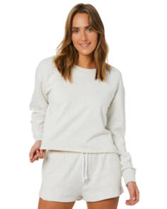 SWELL WOMENS INFUSION CROPPED FLEECE SNOW MARLE
