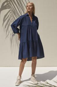 RUE STIIC MORGAN DRESS MIDNIGHT BLUE