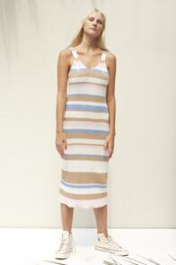 RUE STIIC KARLIE DRESS BOXY STRIPE SKY BLUE