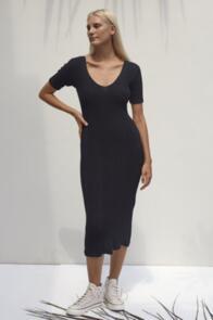 RUE STIIC MAVIS DRESS BLACK