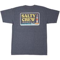 SALTY CREW POINT LOMA TEE S/S NAVY HEATHER