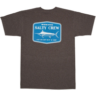 SALTY CREW STEALTH S/S TEE CHARCOAL HEATHER