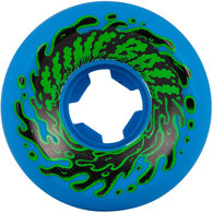 SANTA CRUZ 54MM DOUBLE TAKE VOMIT MINI NEON BLUE BLACK 97A