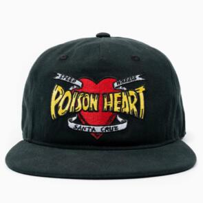 SANTA CRUZ BULLET POISON HEART SNAP BACK BLACK