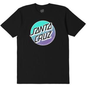 SANTA CRUZ OTHER FADE DOT TEE - YOUTH BLACK