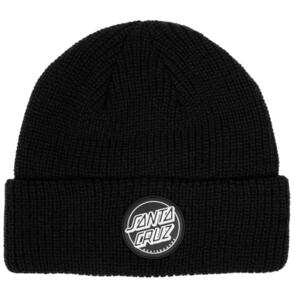 SANTA CRUZ REVERSE DOT PATCH BEANIE BLACK