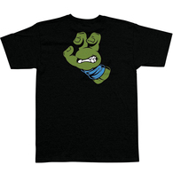 SANTA CRUZ X TMNT TURTLE HAND TEE BLACK BLUE