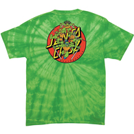 SANTA CRUZ X TMNT TURTLE POWER S/S TEE SPIDER LIME